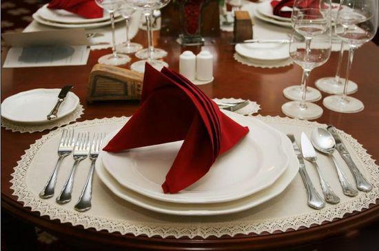西餐餐巾使用的流行与经典